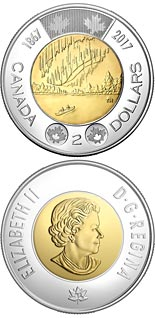 2 dollar coin 150th anniversary of the Confederation of Canada | Canada 2017