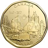 1 dollar coin 150th anniversary of the Confederation of Canada | Canada 2017