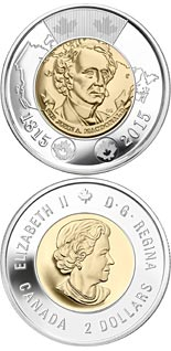 2 dollar coin 200th anniversary of the birth of Sir John A. Macdonald | Canada 2015