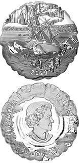 50 dollar coin 175th Anniversary of Franklin's Lost Expedition | Canada 2020