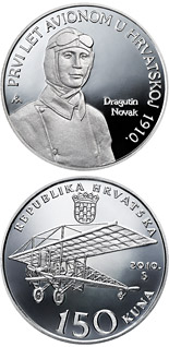 150 kuna coin 100th Anniversary of Aviation in Croatia | Croatia 2010