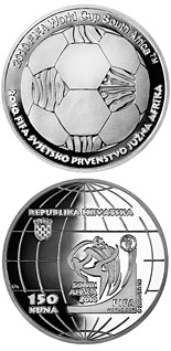 150 kuna coin 2010 World Cup in South Africa  | Croatia 2010