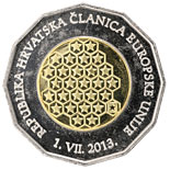 25 kuna coin Republic of Croatia – A Member of the European Union | Croatia 2013