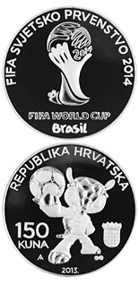 150 kuna coin 2014 FIFA WORLD CUP BRAZIL | Croatia 2014