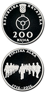 200 kuna coin 300th anniversary of the Alka Tournament of Sinj (Sinjska alka) | Croatia 2015
