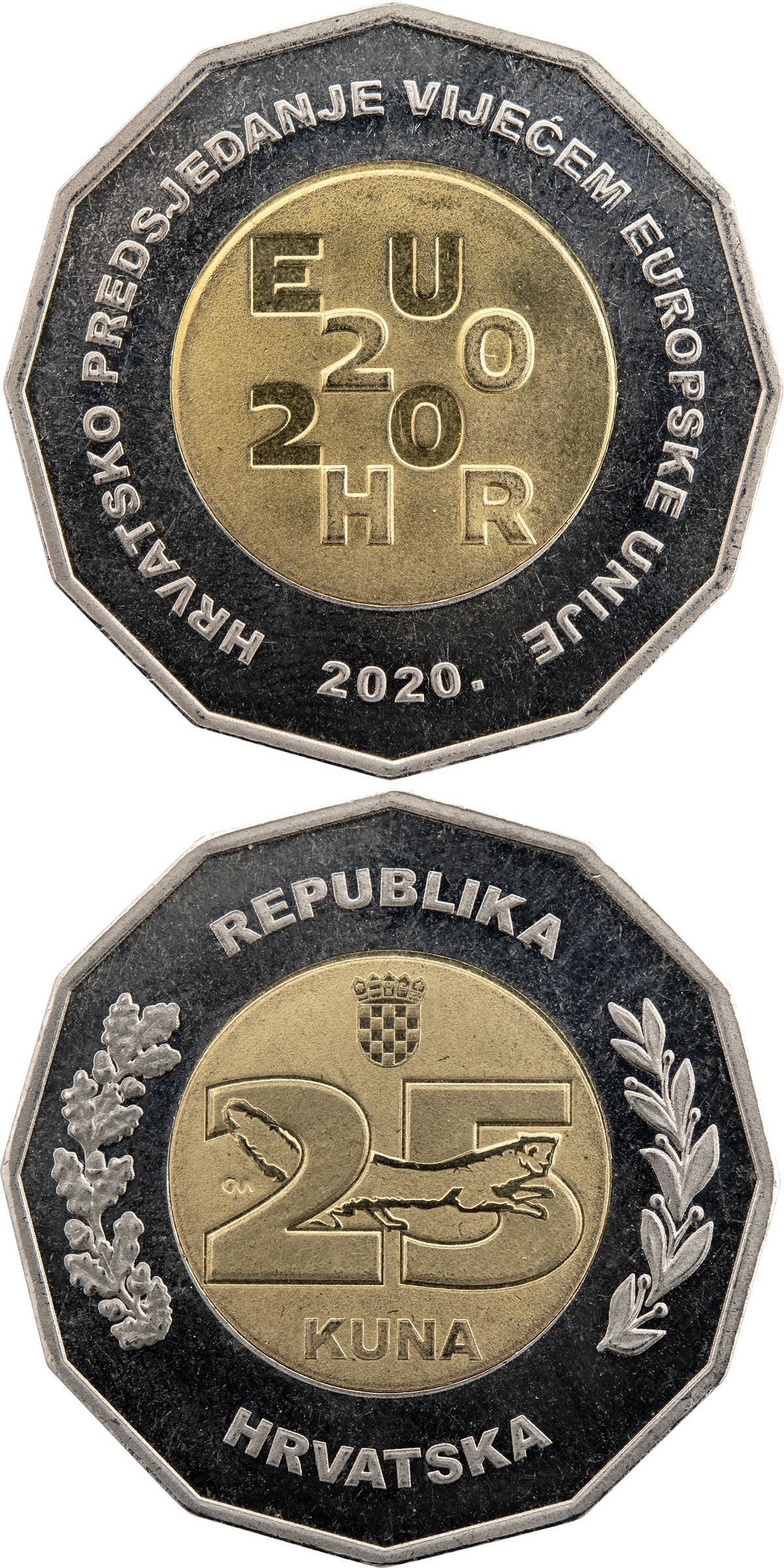 Croatia 25 Kuna 2002 Bi-metallic International Recognition of Croatia