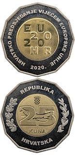 25 kuna coin Croatian Presidency of the Council of the European Union 2020 | Croatia 2020