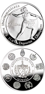 10 peso coin The Olympic Games – Javelin throwing | Cuba 2007