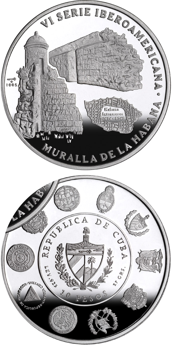 Image of a coin 10 pesos | Cuba | Architecture and Monuments – Havana | 2005