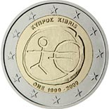 2 euro coin 10th Anniversary of the Introduction of the Euro | Cyprus 2009