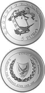 5 euro coin Accession of Cyprus to the euro area | Cyprus 2008