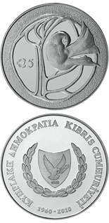 5 euro coin 50th anniversary of the Republic of Cyprus | Cyprus 2010