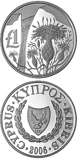 1 pound Cyprus wildlife: centaurea akamantis - 2006 - Series: Cypriot commemorative pound coins - Cyprus