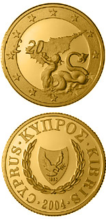 20 pounds coin Triton, Cyprus's accession to the EU | Cyprus 2004