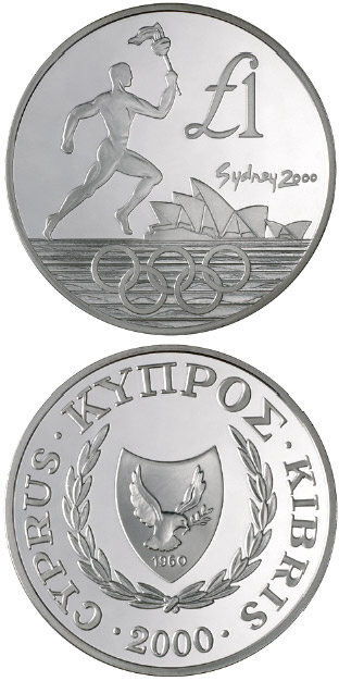 Image of a coin 1 pound | Cyprus | Sydney Olympic Games | 2000