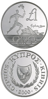 1 pound coin Sydney Olympic Games | Cyprus 2000
