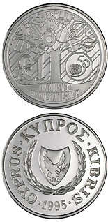 1 pound coin 50th Anniversary of the United Nations | Cyprus 1995