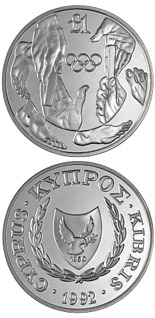 1 pound coin Barcelona Olympic Games | Cyprus 1992