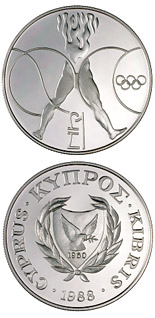 1 pound Seoul Olympic Games - 1988 - Series: Cypriot commemorative pound coins - Cyprus
