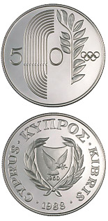 50 cents coin Seoul Olympic Games | Cyprus 1988