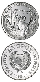 1 pound 25th Anniversary of the World Wildlife Fund - 1986 - Series: Cypriot commemorative pound coins - Cyprus