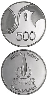 500 mils  coin Human Rights | Cyprus 1978