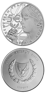 5 euro 50 Years of the Central Bank of Cyprus - 2013 - Series: Silver 5 euro coins - Cyprus