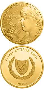 20 euro 50 Years of the Central Bank of Cyprus - 2013 - Series: Gold 20 euro coins - Cyprus