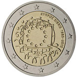 2 euro coin The 30th anniversary of the EU flag | Cyprus 2015