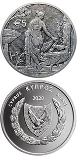5 euro coin Leda and the Swan | Cyprus 2020