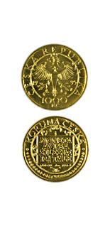 Image of 1000 koruna coin - Three ducat of the Silesian Estates from 1621  | Czech Republic 1995