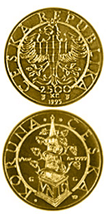 2500 koruna coin Thaler of the Moravian Estates from 1620  | Czech Republic 1997