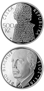 500 koruna coin Birth of opera singer Beno Blachut | Czech Republic 2013