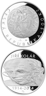 500 koruna coin Birth of artist and writer Jiří Kolář | Czech Republic 2014