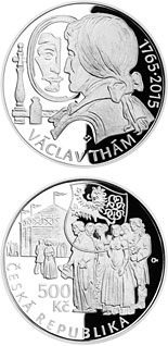 500 koruna coin Birth of poet and playwright Václav Thám | Czech Republic 2015