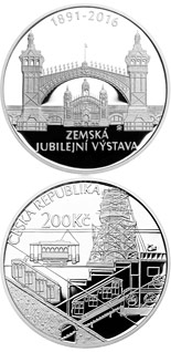 200 korun 125th anniversary of the General Land Centennial Exhibition - 2016 - Series: Silver 200 kronen coins - Czech Republic