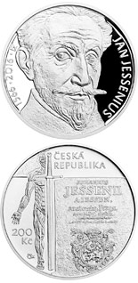 200 korun Birth of Jan Jessenius - 2016 - Series: Silver 200 kronen coins - Czech Republic