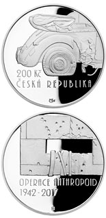 200 koruna coin Operation Anthropoid | Czech Republic 2017