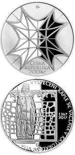 200 korun Consecration of Saint Wenceslas Chapel in Saint Vitus Cathedral - 2017 - Series: Silver 200 kronen coins - Czech Republic