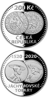 200 koruna coin Start of minting of Jáchymov thaler  | Czech Republic 2020