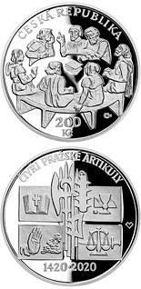 200 koruna coin Promulgation of Four Articles of Prague | Czech Republic 2020
