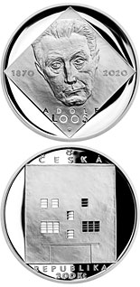 200 koruna coin Birth of Adolf Loos | Czech Republic 2020