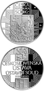 500 koruna coin Adoption of Czechoslovak Constitution | Czech Republic 2020