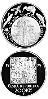 200 koruna coin Protection of the environment | Czech Republic 1994