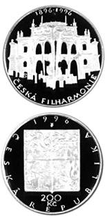 200 korun 100th anniversary of the foundation of theCzech Philharmonia - 1995 - Series: Silver 200 kronen coins - Czech Republic
