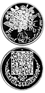 200 koruna coin 100th anniversary of the birth of Karel Svolinský | Czech Republic 1996
