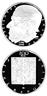200 korun 200th anniversary of the birth of František Palacký - 1998 - Series: Silver 200 kronen coins - Czech Republic