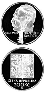 200 korun 150th anniversary of the birth of František Kmoch - 1998 - Series: Silver 200 kronen coins - Czech Republic