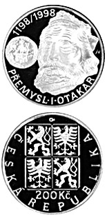 200 koruna coin 800th anniversary of the Coronation of the Czech King Přemysl I Otakar | Czech Republic 1998