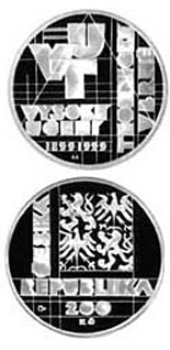 200 korun 100th anniversary of the foundation of the Brno University of Technology - 1999 - Series: Silver 200 kronen coins - Czech Republic
